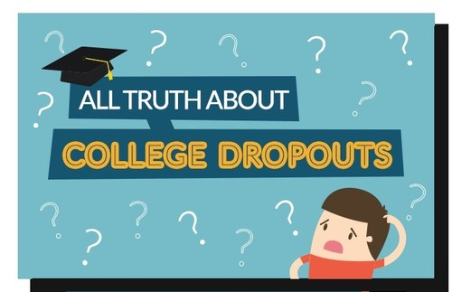 All Truth About College Dropouts. Infographic.